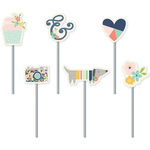 Posh Decorative Clips 6/Pkg