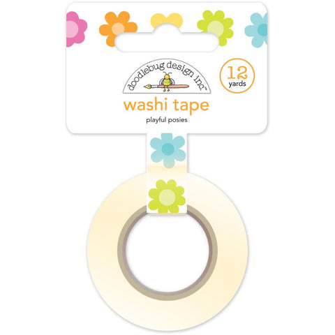 Doodlebug Washi Tape 15mmX12yd - Playful Posies