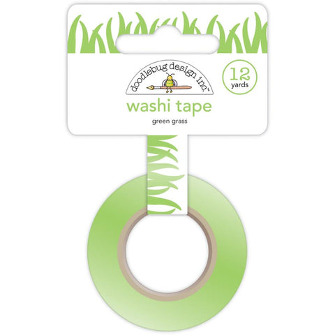 Doodlebug Washi Tape 15mmX12yd - Green Grass