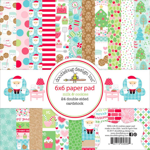 "Milk & Cookies Doodlebug Double-Sided Paper Pad 6""X6"" 24/Pkg"