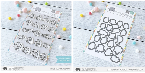 LITTLE SLOTH AGENDA stamp and die