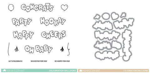 CELEBRATION BALLOONS stamp and die