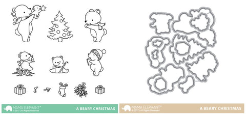 A BEARY CHRISTMAS stamp and die