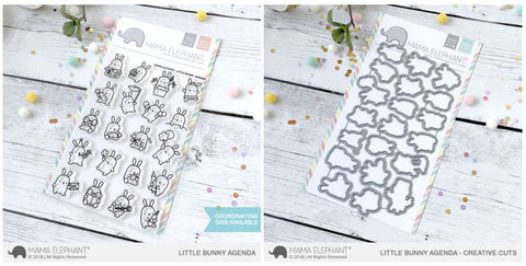 LITTLE BUNNY AGENDA stamp and die