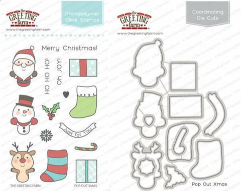 pop out xmas - Stamp and Die Set