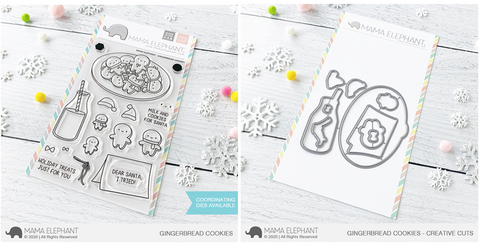 GINGERBREAD COOKIES stamp and die