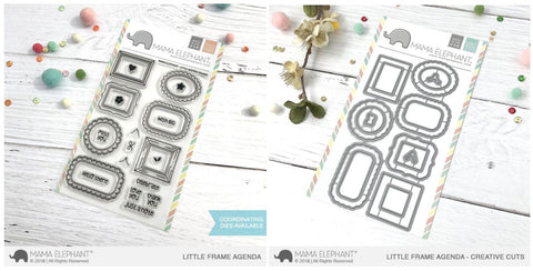 LITTLE AGENDA FRAMES stamp and die