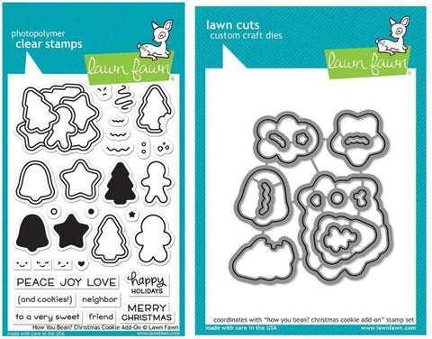 how you bean? christmas cookie add-on stamp and die
