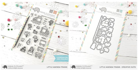 LITTLE AGENDA TRAINS stamp and die