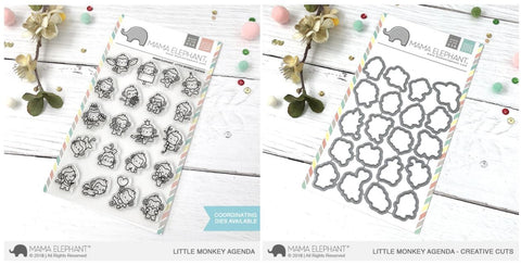 LITTLE MONKEY AGENDA stamp and die
