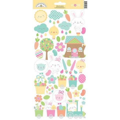 "Easter Express Cardstock Stickers 6""X13"" - Icons"