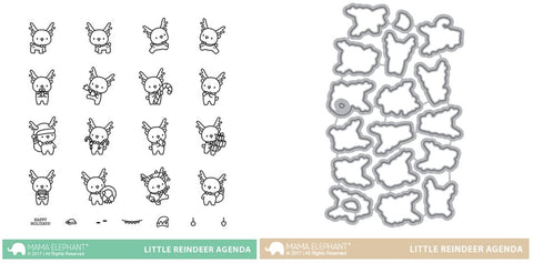 LITTLE REINDEER AGENDA stamp and die