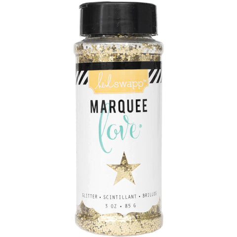 Heidi Swapp Marquee Love Chunky Glitter 3 Ounces/Jar - Gold