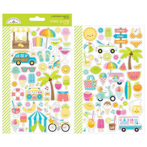 Doodlebug Mini Cardstock Stickers - Sweet Summer