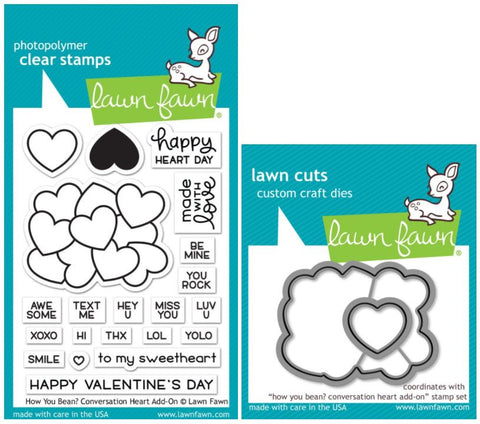 how you bean? conversation heart add-on stamp and die
