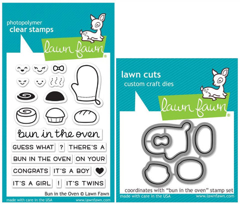 bun in the oven stamp and die