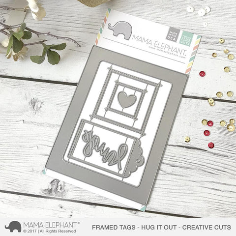 FRAMED TAGS - HUG IT OUT - CREATIVE CUTS