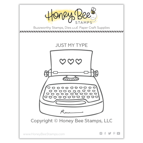 Just My Type | 2x2 Stamp Set