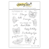Fluttering By | 6x8 Stamp Set