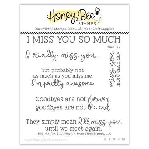Missing You | 4x4 Stamp Set