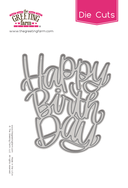 Happy Birthday - Die Cuts