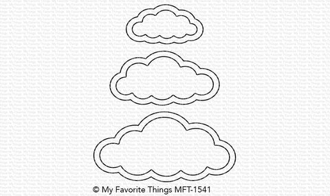 Die-namics Cute Cloud Outlines