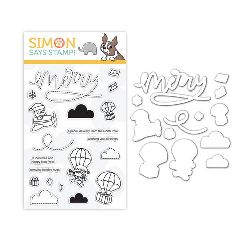 Mama Elephant Clear Stamp and Die Set MERRY MAIL