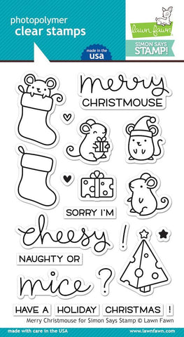 MERRY CHRISTMOUSE - Stamp