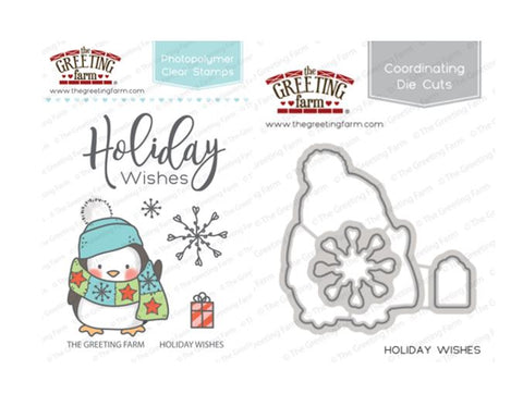 Holiday Wishes - Stamp and Die