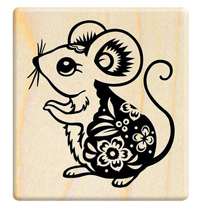Chinese style Paper-cut rat - F523