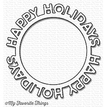 Die-namics Happy Holidays Circle Frame