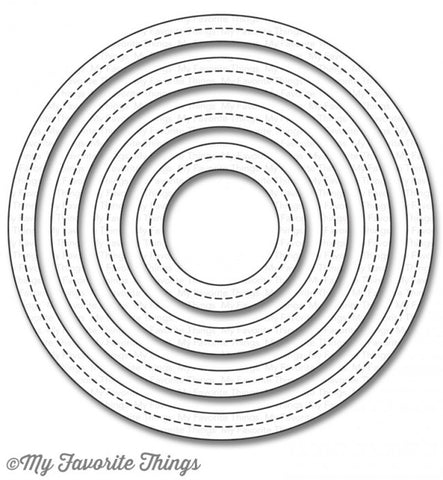 Die-namics Single Stitch Line Circle Frames