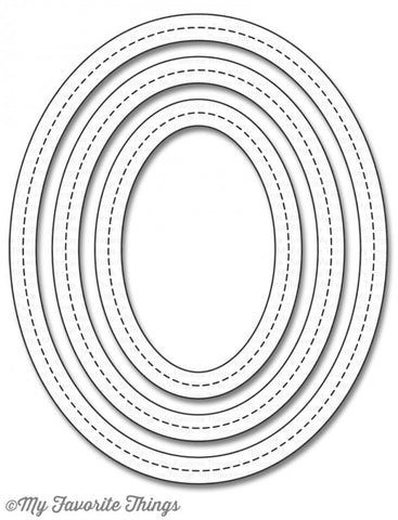 Die-namics Single Stitch Line Oval Frames