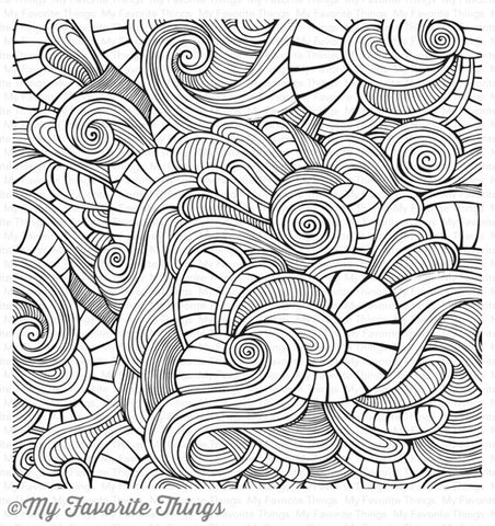 BG Wavy Coloring Book Background