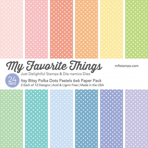 Itsy Bitsy Polka Dots Pastels Paper Pack