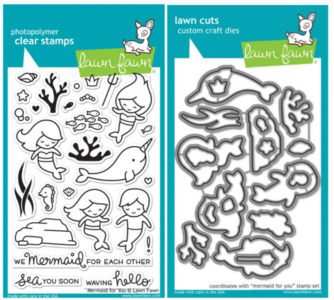 mermaid for you stamp and die bundle