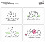 chirpy chirp chirp stamp and die set