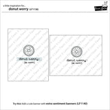 donut worry stamp and die set