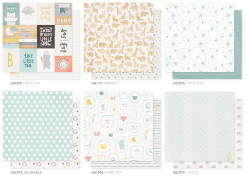 Little You 12 x 12 Patterned Paper Set - Boy