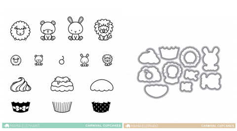 CARNIVAL CUPCAKES Stamp and Die Set