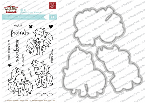 magical friends stamp and die set