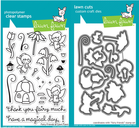 fairy friends stamp and die set