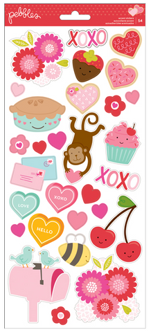 STICKERS - PB - BE MINE - 6 X 12 - 2 SHEETS (54 PIECE)