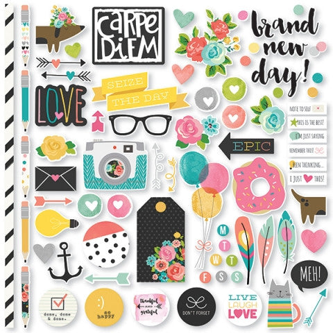 Carpe Diem Scrapbooking Fundamentals Cardstock Stickers