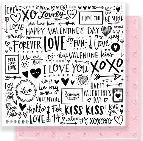 PAPER - PATTERNED - CP - HELLO LOVE - MY VALENTINE