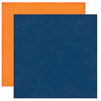 Little Man - Designer Solids - Blue/Orange