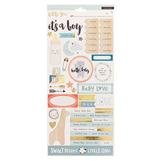 Stickers - CP - Little You - 6 x 12 - Gold Foil - Accents - Boy - 2 Sheets