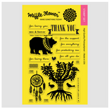 Tribal Thank You Stamp Set