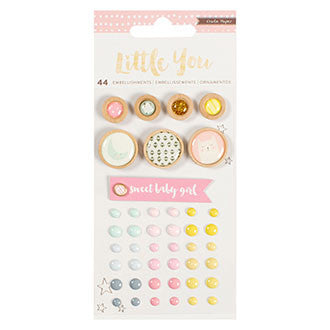 Embellishments - CP - Little You - Mixed - Girl (44 Piece)