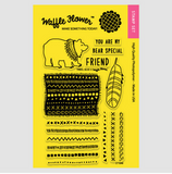 Tribal Bear Stamp Set